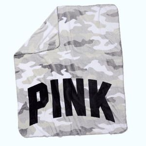 Brand new VS PINK camo fleece blanket